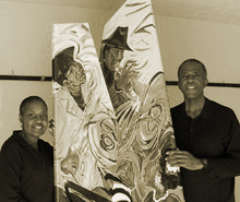 sounds of perpetual spring is a sculpted painting created by lucious webb and charlottte riley-webb